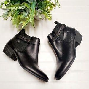 🎉Sam Edelman Black Leather Moto Ankle Booties🎉